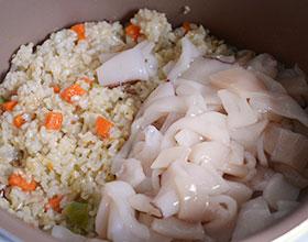 кальмар с рисом