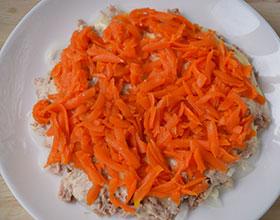 слой морковки