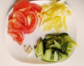 овощи для лапши и чеснок