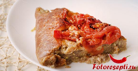 кабачковый пирог с помидорами