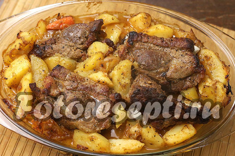 как приготовить ребрышки свиные в духовке с картошкой