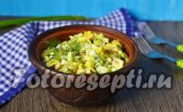 Салат из кальмаров и крабовых палочек, рецепт с фото очень вкусный