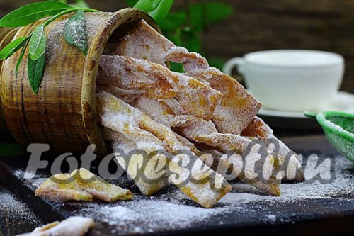 Хворост на кефире: рецепт с фото пошагово