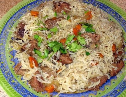 мясо и рис