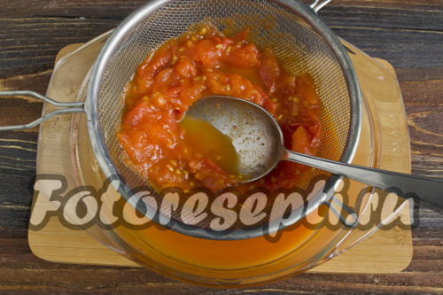 приготовить томатное пюре