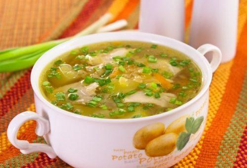 Суп из куриных голенейы