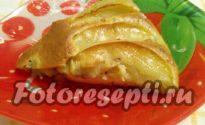 """Шарлотка """"Каприз"""" с бананово-яблочной начинкой"""