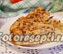 Шарлотка с яблоками на кефире, рецепт с фото пошагово в духовке