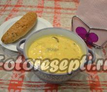 Сырный суп с грибами и плавленным сыром