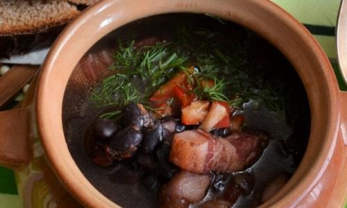 Суп из черной фасоли