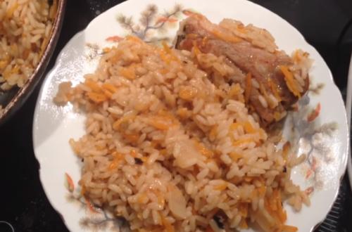 Свиные ребрышки с рисом