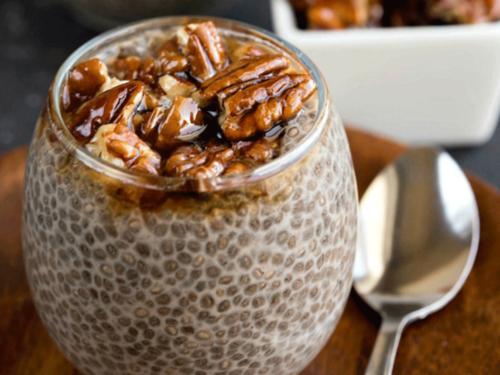 десерт из семян чиа