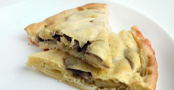 Грибной пирог с шампиньонами и картошкой