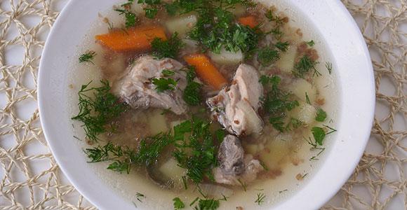 суп с курицей и гречкой