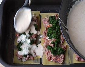 готовим лазанью со шпинатом