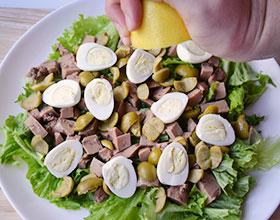 лимон на салат