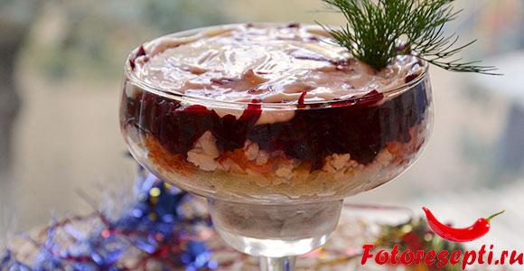 новогодний салат - селедка под шубой