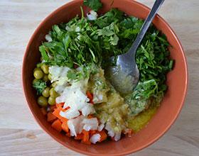 зелень в селедочном салате