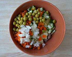 ингредиенты для салата с селедкой