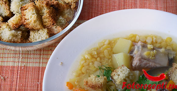 домашние сухарики к супу