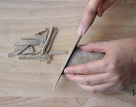 разрезать тесто на лапшу
