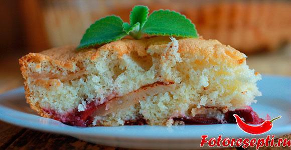 пирог со сливами, фото