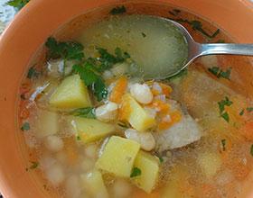 суп с фасолью, фото