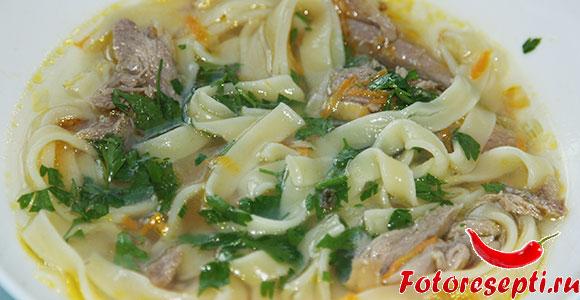 куриный суп-лапша, фото