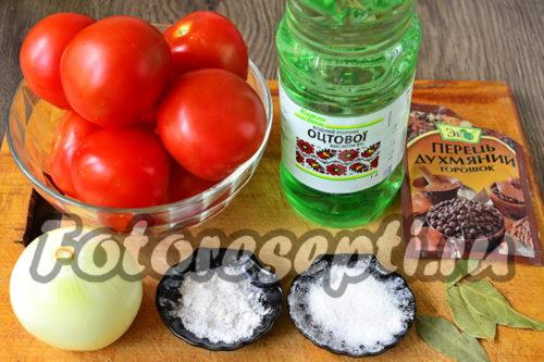 Ингредиенты для томатного соуса