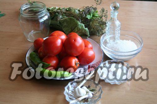 Ингредиенты для маринования помидоров