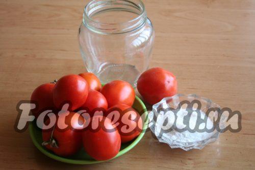 Ингредиенты для помидоров в томатном соке