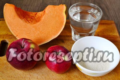 Ингредиенты для пюре из тыквы