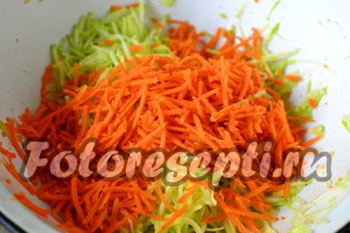 Измельчить морковь