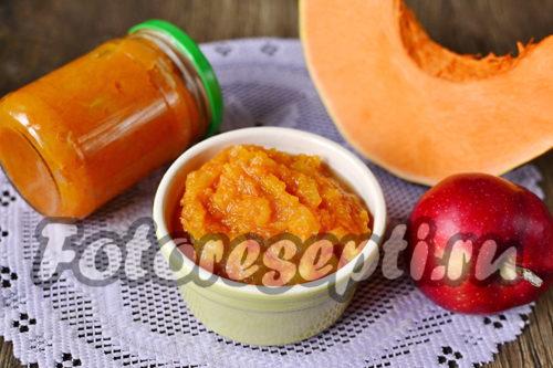 Пюре из тыквы и яблок на зиму для детей, рецепт