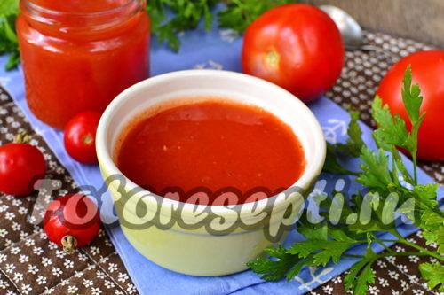 Томатный соус на зиму в домашних условиях, простой рецепт из помидор