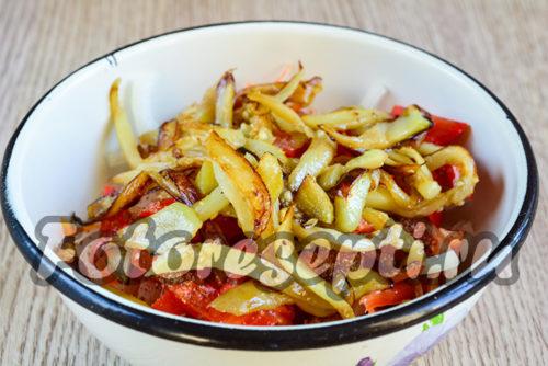 Добавить к овощам баклажаны