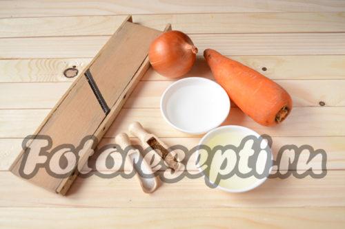 ингредиенты для корейской моркови