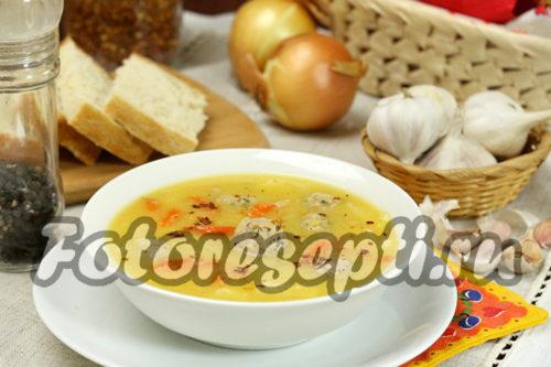 Гороховый суп с мясными фрикадельками