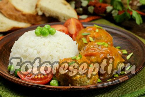 тефтели из рыбы и риса