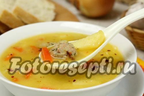 Гороховый суп с мясными фрикадельками рецепт