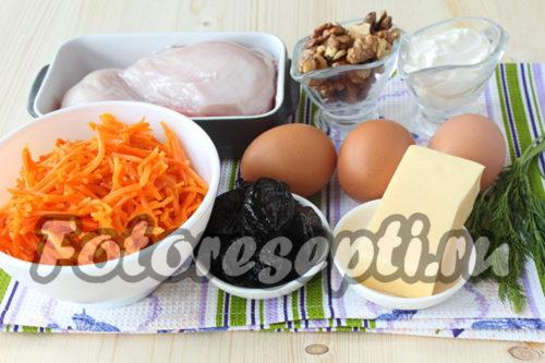 ингредиенты для салата Марсель