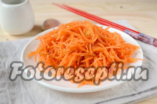 Морковь по-корейски, рецепт с приправой для корейской моркови