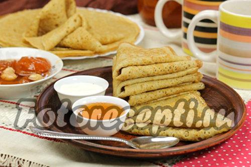 Пшенично-ржаные блины рецепт