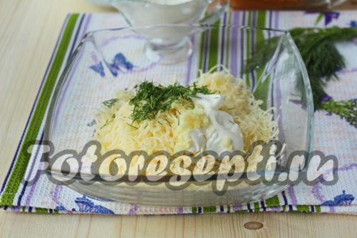 натереть сыр для салата