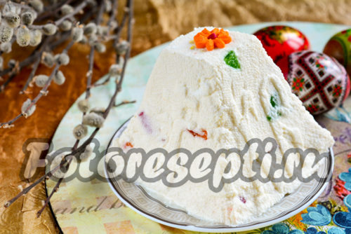 Пасха из творога, рецепт с фото без выпечки