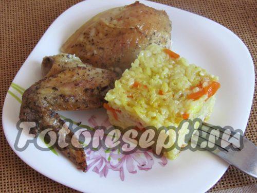 Курица с рисом в духовке: рецепт с фото