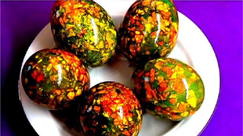 Мраморные яйца на Пасху, пошаговый рецепт