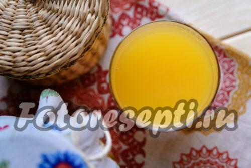 готовый тыквенный сок с апельсином