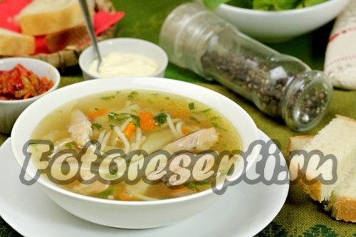 Куриный суп с вермишелью и картошкой, рецепт с фото