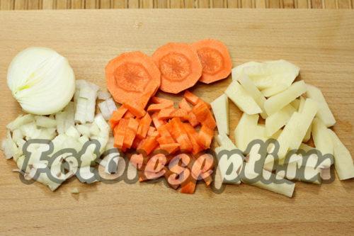 подготовить овощи для супа